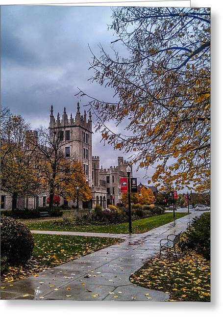 Northern Illinois University Greeting Cards - Altgeld Hall in Fall Greeting Card by Jason Borg