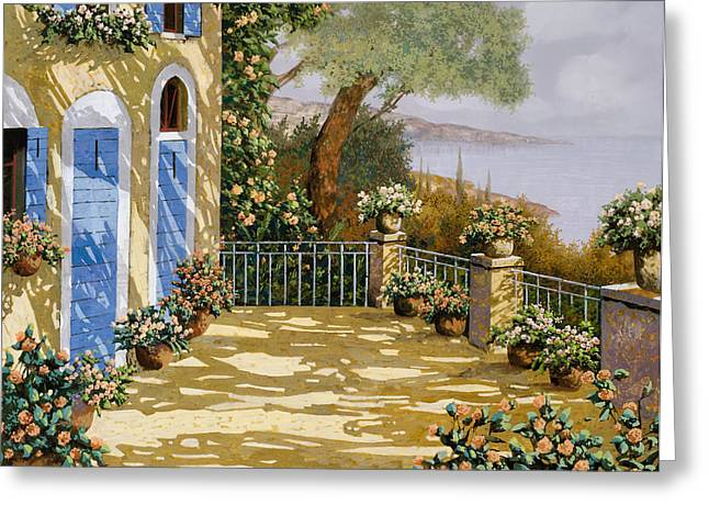 Shadows Greeting Cards - Altre Porte Blu Greeting Card by Guido Borelli
