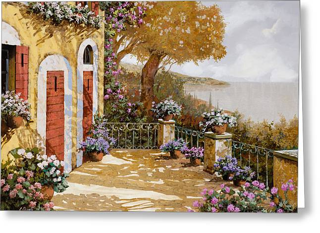 Lakescape Greeting Cards - Altre Porte Rosse Greeting Card by Guido Borelli