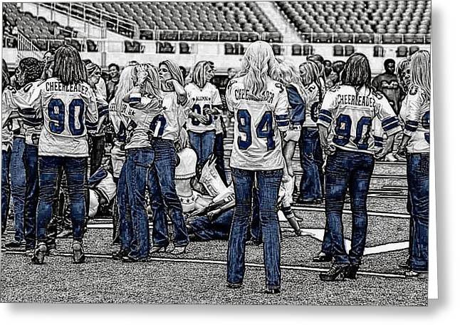 Cowboys Cheerleaders Greeting Cards - Alum Gathering Greeting Card by Carrie OBrien Sibley