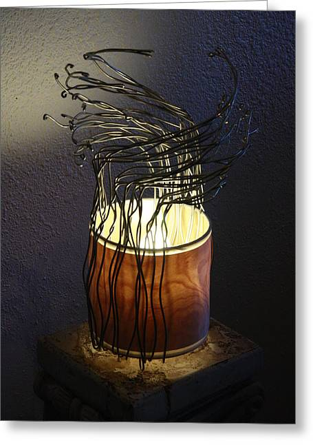 Lamp Sculptures Greeting Cards - Alum-inated  Greeting Card by Ellery Russell