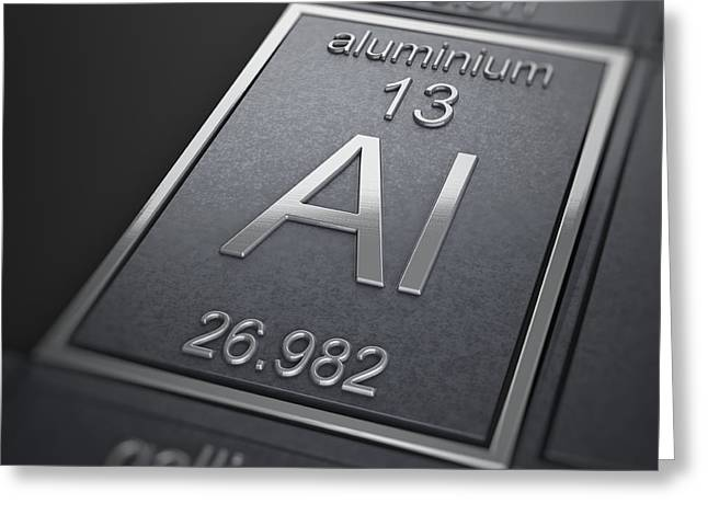 Aluminium Greeting Cards - Aluminium Chemical Element Greeting Card by Science Picture Co