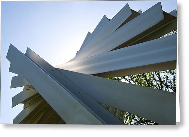 Aluminum Sculpture Detail Greeting Card by Mary Lee Dereske
