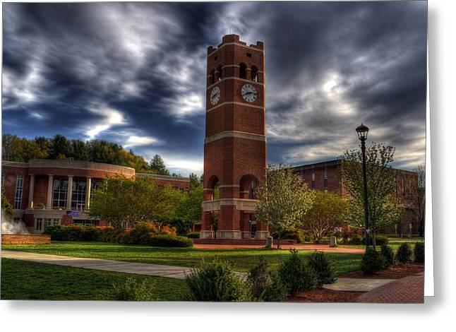 Wcu Greeting Cards - Alumni Tower-WCU Greeting Card by Greg and Chrystal Mimbs