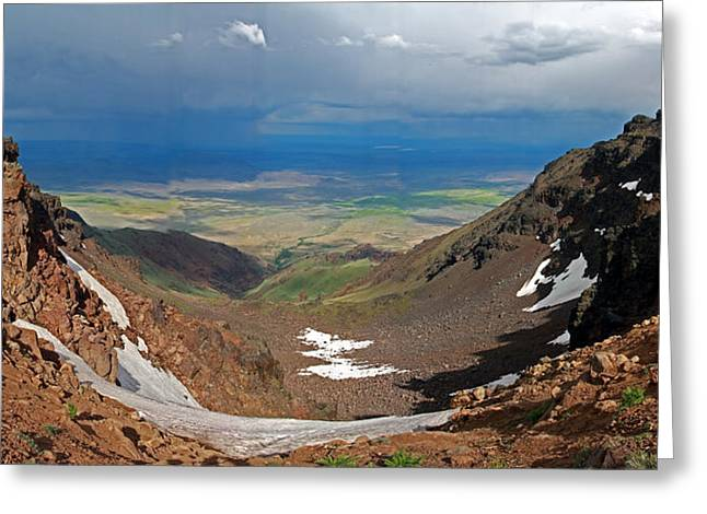 Steen Greeting Cards - Alvord Desert Panorama Greeting Card by David Salter