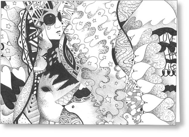 Organic Drawings Greeting Cards - Always A Choice Greeting Card by Helena Tiainen