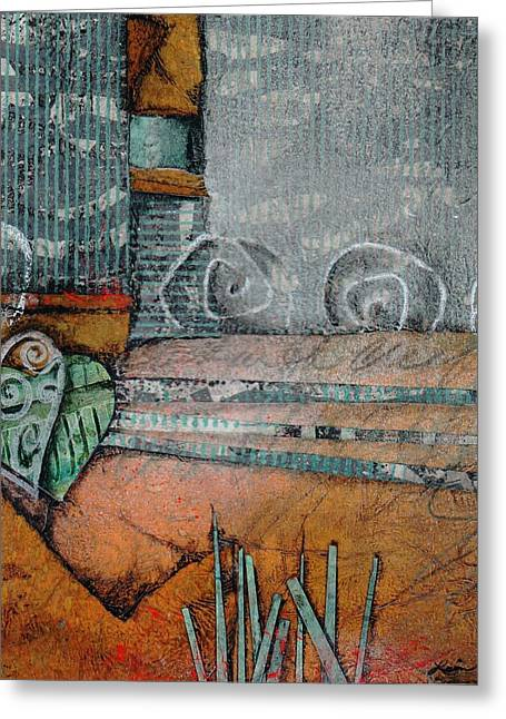 Gestures Mixed Media Greeting Cards - Always follow your creative heart  Greeting Card by Laura  Lein-Svencner