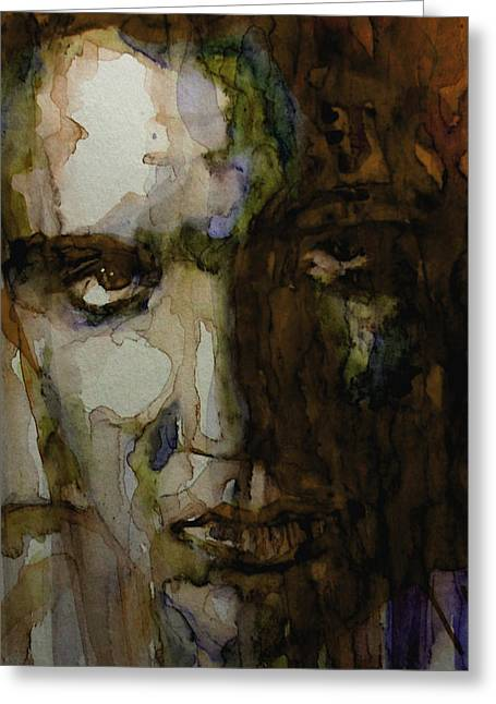 Presley Greeting Cards - Always On My mind Greeting Card by Paul Lovering