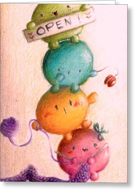 Round Pastels Greeting Cards - Always Open Greeting Card by Mirko Gallery
