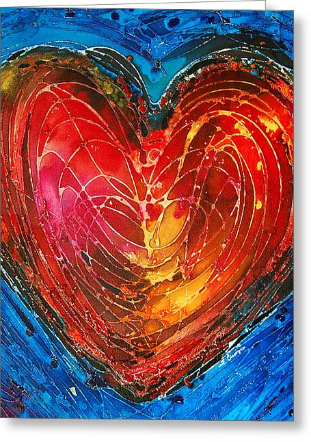 Love Print Greeting Cards - Always Greeting Card by Sharon Cummings