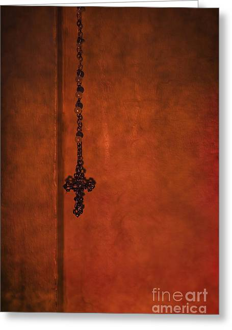 Rosary Greeting Cards - Always There Greeting Card by Margie Hurwich
