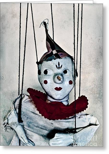 Marionette Greeting Cards - Always Wondering Greeting Card by Margie Hurwich