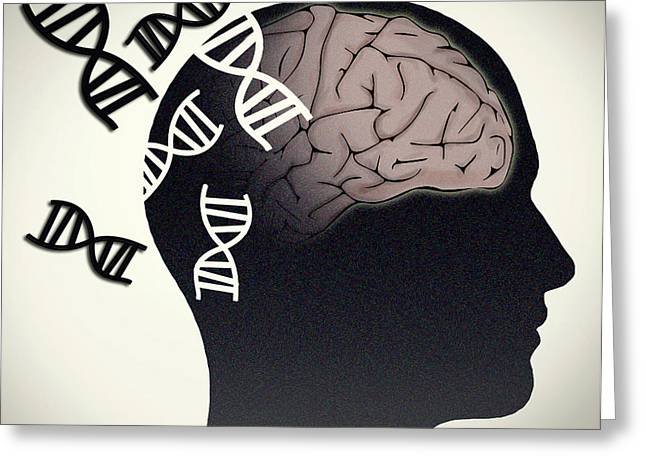 Alzheimers Disease, Genetics Research Greeting Card by Science Source