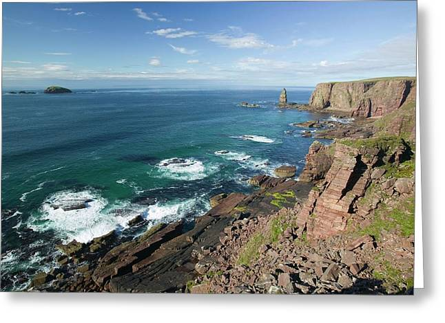 Am Buachaille Sea Stack Greeting Card by Ashley Cooper
