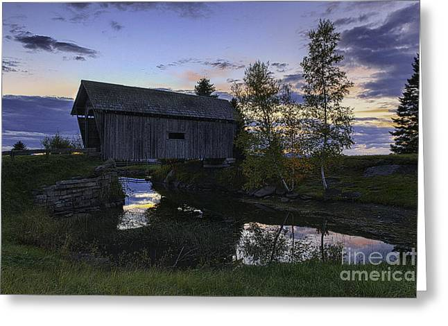 Scenic Drive Greeting Cards - A.M. Foster Covered Bridge Greeting Card by Thomas Schoeller