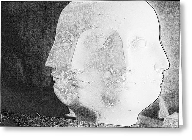Recently Sold -  - Greek Sculpture Greeting Cards - Am I Greeting Card by Nicholas Mathews