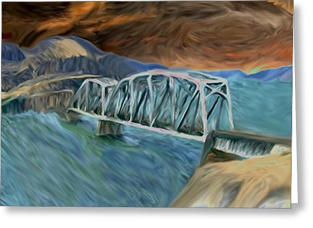 Award Winning Art Greeting Cards - Am I The Bridge Greeting Card by Dennis Buckman