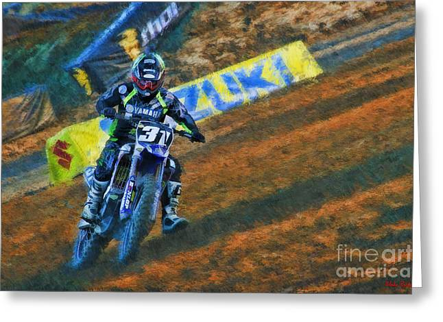 Supercross Greeting Cards - AMA 250SX SuperCross Alex Martin  Greeting Card by Blake Richards