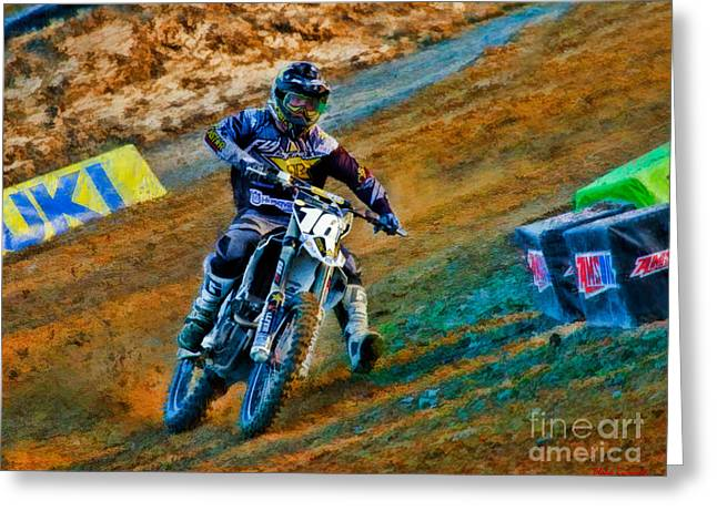 Supercross Greeting Cards - AMA 250SX SuperCross Zach Osborne  Greeting Card by Blake Richards