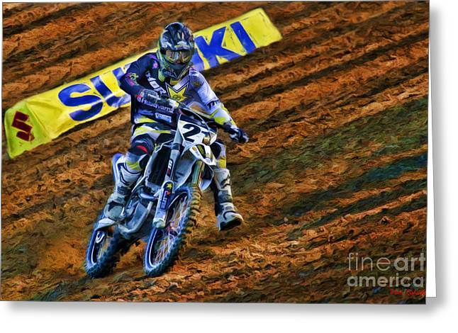 Supercross Greeting Cards - AMA 450SX SuperCross Jason Anderson Greeting Card by Blake Richards