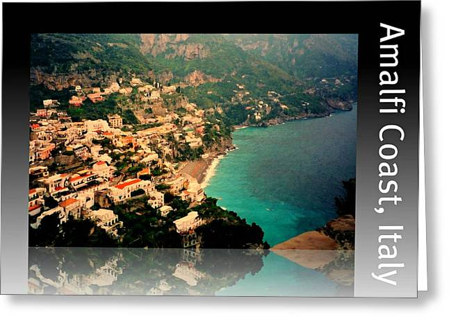 Southern Italy Greeting Cards - Amalfi Coast Greeting Card by Diana Angstadt