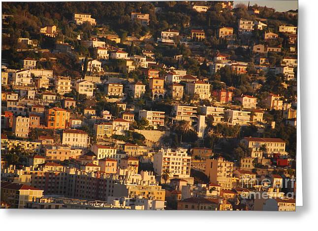 Amalfi Sunset Greeting Cards - Amalfi Coast Greeting Card by Sari Gabbay