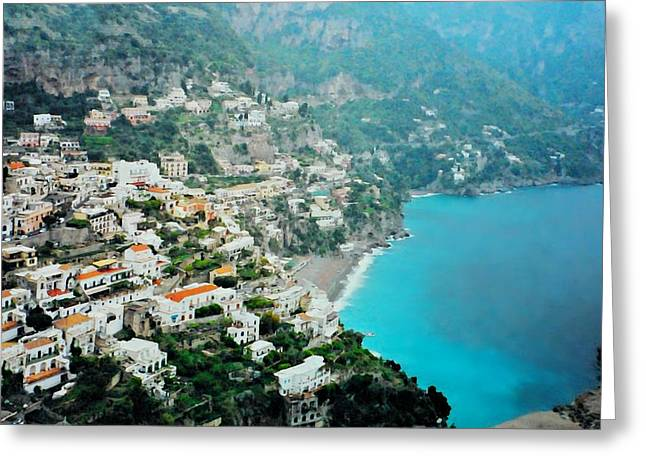 Southern Italy Greeting Cards - Amalfi Greeting Card by Diana Angstadt
