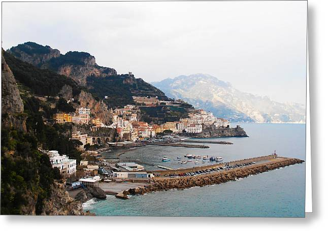Amalfi Italy Greeting Card by Pat Cannon