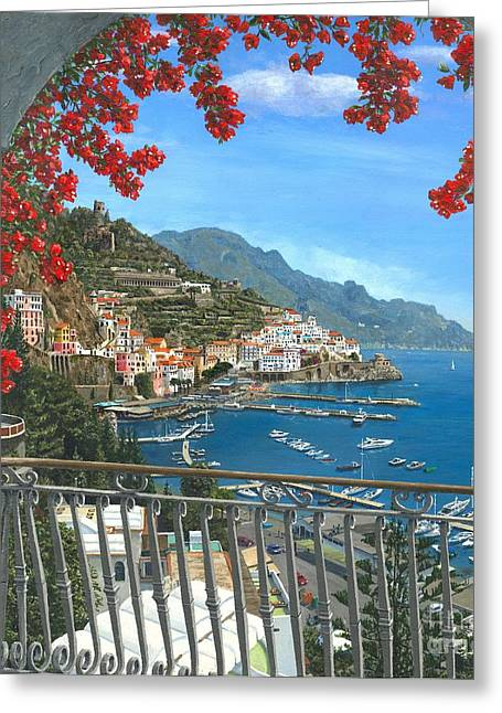 Viewpoint Greeting Cards - Amalfi Greeting Card by MGL Meiklejohn Graphics Licensing