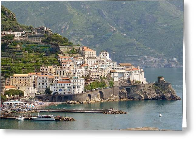 Scenic View Greeting Cards - Amalfi Splendor Greeting Card by Marilyn Dunlap