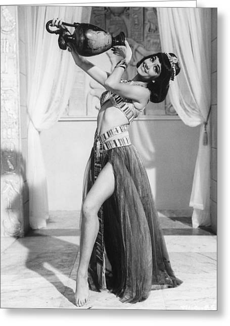 Carry Greeting Cards - Amanda Barrie in Carry On Cleo  Greeting Card by Silver Screen