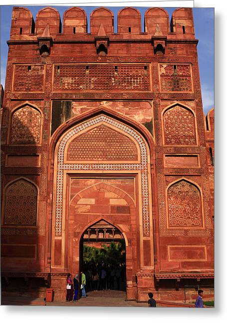 Award Greeting Cards - Amar Singh Gate - Red Forth - Agra  Greeting Card by Aidan Moran