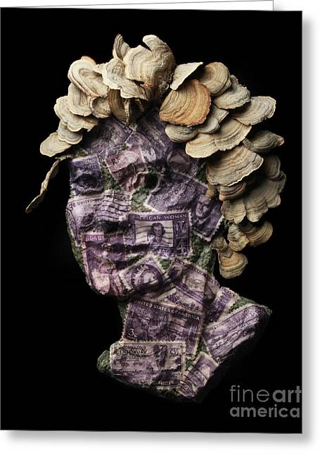 Violet Art Mixed Media Greeting Cards - Amaranthine Greeting Card by Adam Long