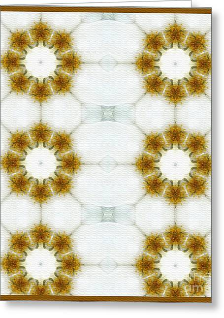 White Tapestries - Textiles Greeting Cards - Amarillo Coronas Greeting Card by Barbara Griffin