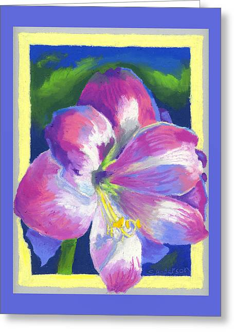 Impressionist Style Greeting Cards - Amaryllis By Morning Greeting Card by Stephen Anderson