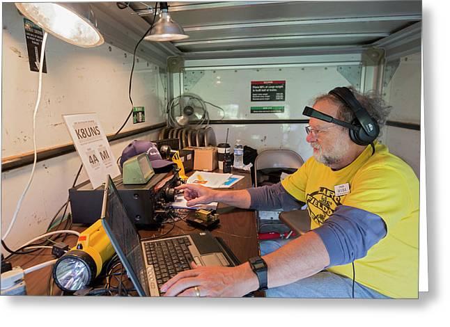 Amateur Radio Operator Greeting Card by Jim West