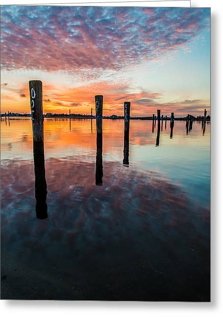 Amazing Bay Greeting Card by Kristopher Schoenleber