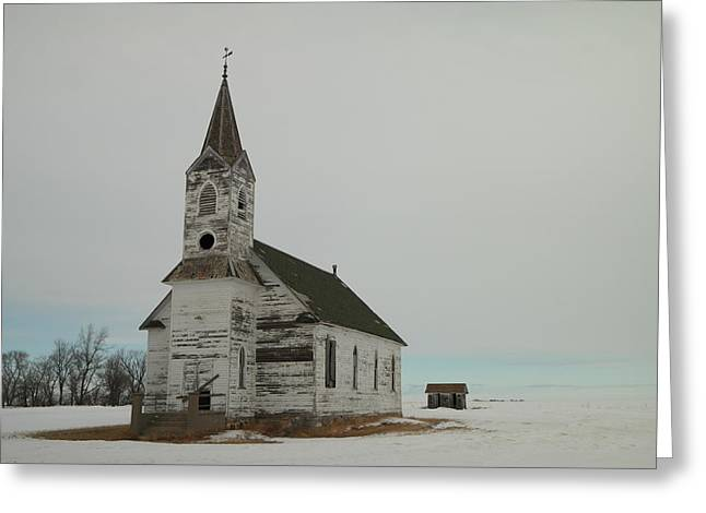 Worn In Greeting Cards - Amazing Grace In North Dakota Greeting Card by Jeff  Swan