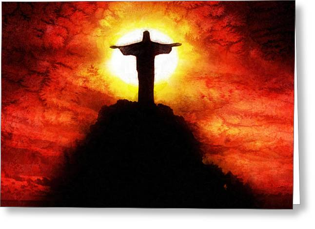 Amazing Sunset Greeting Cards - Amazing Grace Greeting Card by Mo T