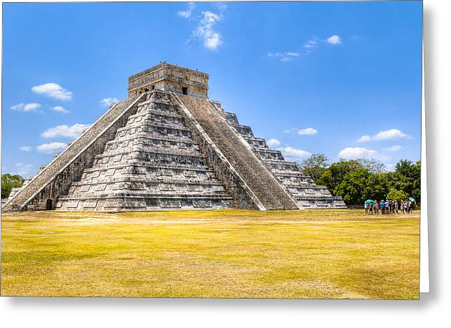 El Castillo Greeting Cards - Amazing Mayan Pyramid at Chichen Itza Greeting Card by Mark Tisdale