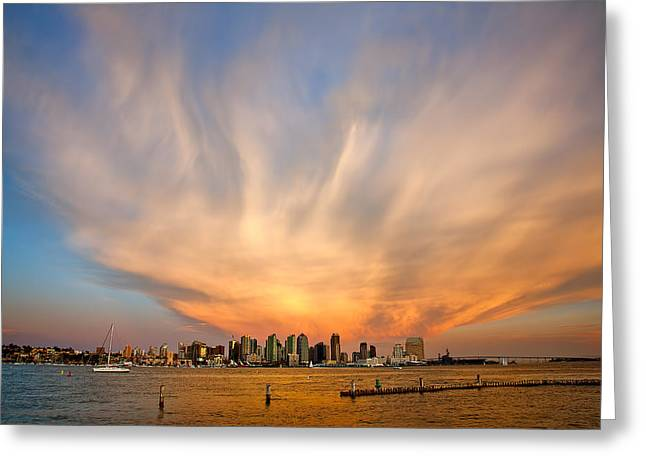 Amazing Greeting Cards - Amazing San Diego Sky Greeting Card by Peter Tellone