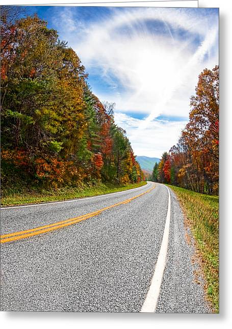 Mountain Road Greeting Cards - Amazing Skies Over North Georgia Greeting Card by Mark Tisdale