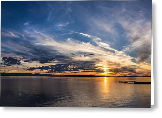 Amazing Sunset Greeting Cards - Amazing sky at sunset Greeting Card by Pierre Leclerc Photography
