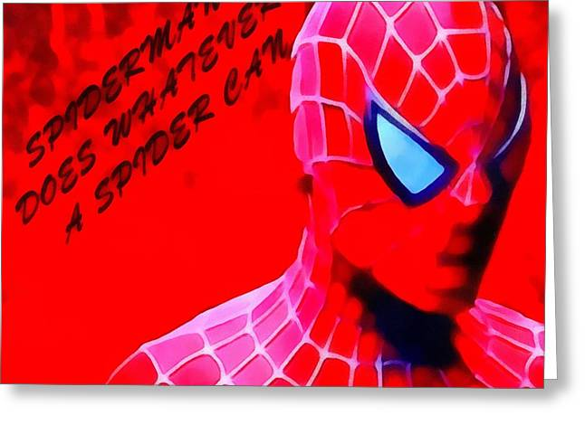 Spider Paintings Greeting Cards - Amazing Spiderman Greeting Card by Dan Sproul