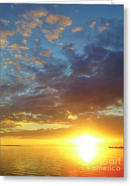 Cedar Key Greeting Cards - Amazing Sunset Greeting Card by D Hackett