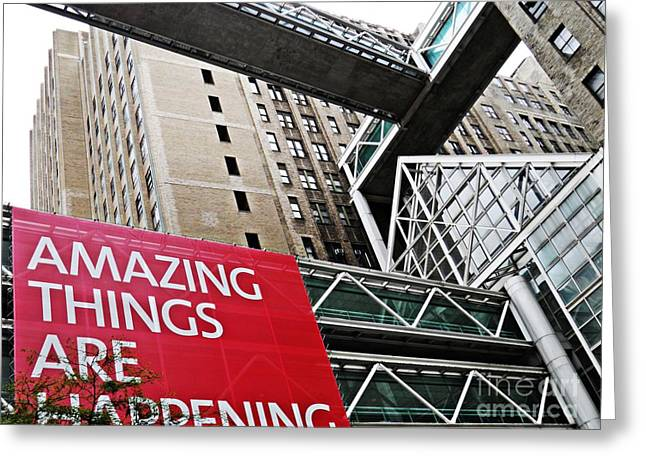 Amazing Things Greeting Card by Sarah Loft
