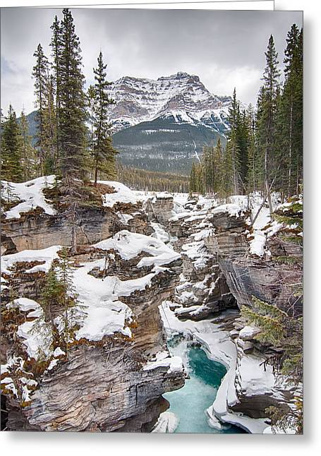 Hdr Landscape Greeting Cards - Amazing Water Falls  Greeting Card by Yves Gagnon