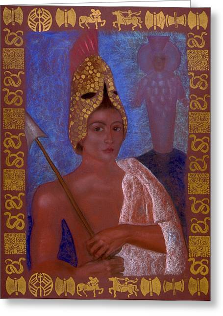 Warrior Goddess Greeting Cards - Amazon Greeting Card by Diana Perfect