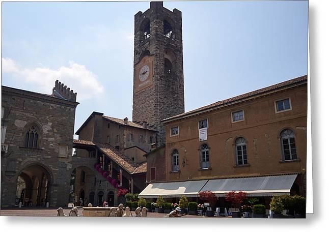Ambasciata Culturale Europea. Bergamo Alta Greeting Card by Jouko Lehto