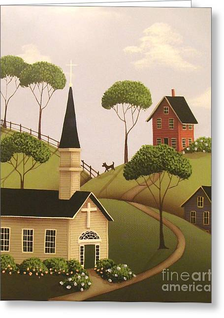 Catherine Holman Greeting Cards - Amber Hills Greeting Card by Catherine Holman